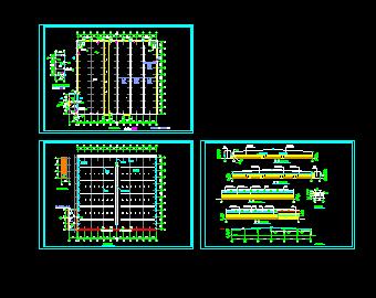 轻钢工业建筑设计图免费下载-农业、厂房建筑中心北路广告设计图片