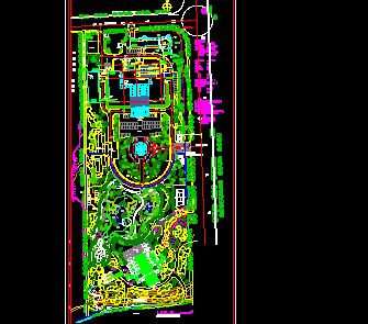 某酒店景观规划设计平面图(含效果图)图片