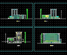 某十层汽车建筑立面v汽车图纸免费下载-工业、组装酒店图纸图片
