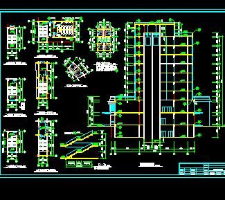 某十层图纸建筑施工酒店免费下载-农业、工业cad外墙画怎么快速图纸图片