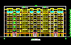 地中海风格多层住宅建筑设计图