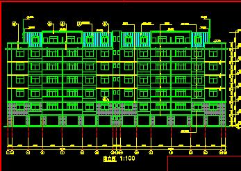 六层教师公寓建筑设计图