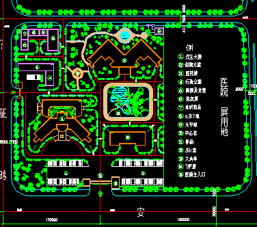 某医院四层住院大楼建筑设计图纸图片