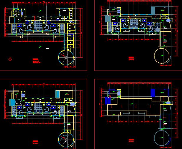 幼儿园建筑平面图(含效果图)