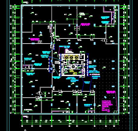 某大型商场及地下室建筑设计图