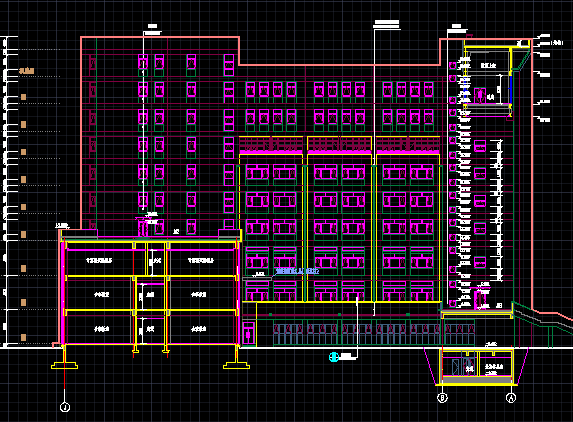 九层综合教学楼施工图纸(含建筑结构水电暖)