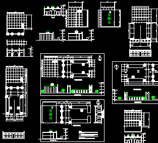 仿古寺庙建筑设计图纸