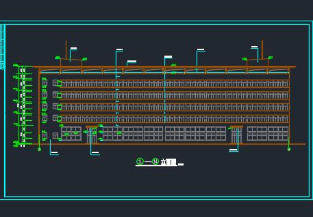 某五层厂房建筑施工图纸