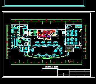 三层酒店建筑平面设计图