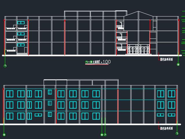 4100平米三层框架结构教学楼毕业设计