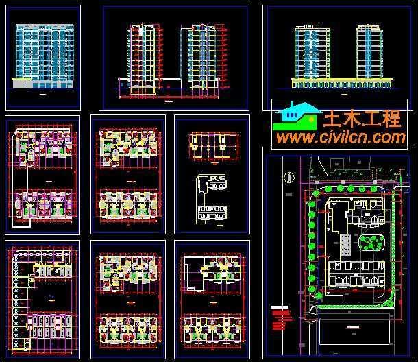 小高层住宅方案设计图