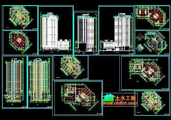 高层住宅设计图纸 高清图片