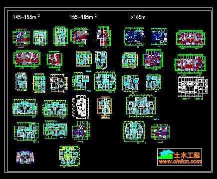 大户型平面图集免费下载