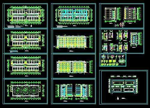 建筑户型平面图 - 土木工程网;; 学校宿舍平面图; 学生宿舍立面效果图片