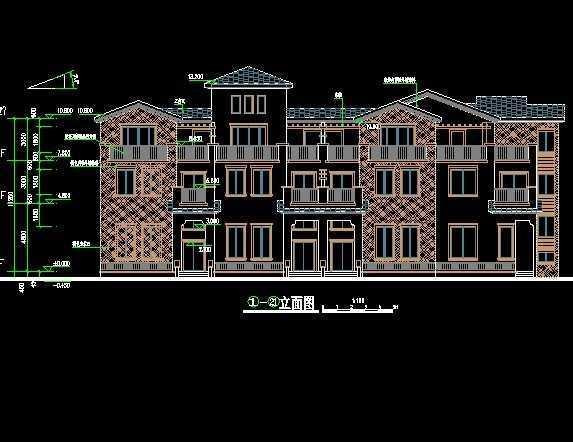 联排别墅户型免费下载 - 建筑户型平面图 - 土木工程网