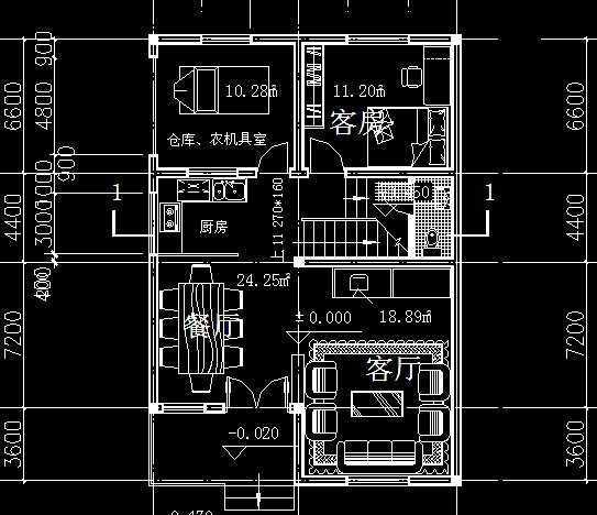 农村住宅建筑施工设计图免费下载   建筑户型平; 农村住宅一层平面图