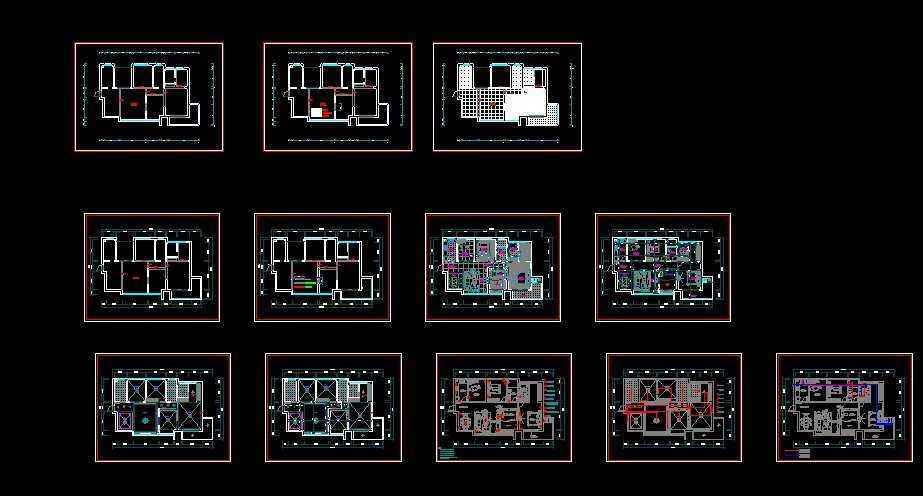 家庭别墅免费下载 - 建筑户型平面图