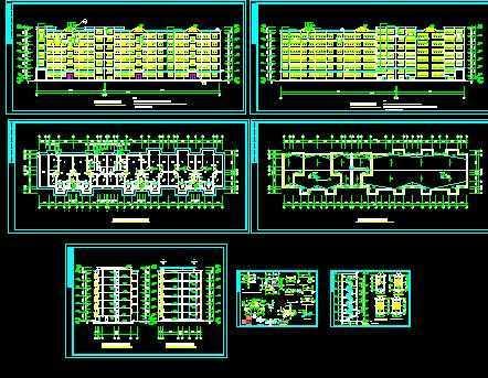 某市节能住宅楼建筑图