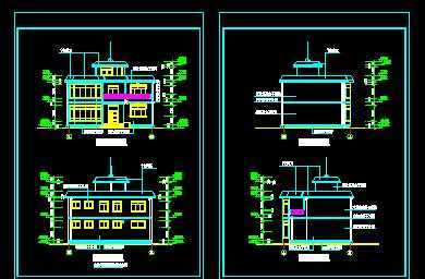 小型住宅建筑施工图纸