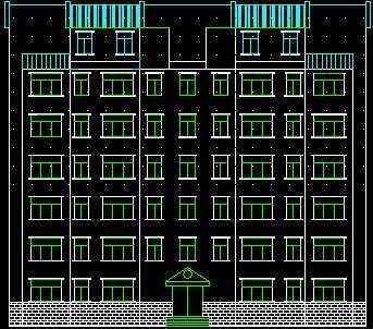 四单元六层楼房立面图-六层住宅楼设计图