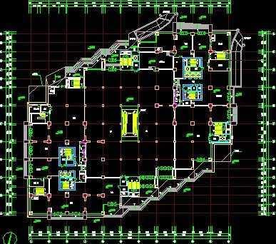 大型商场建筑施工图免费下载 - 建筑户型平面图