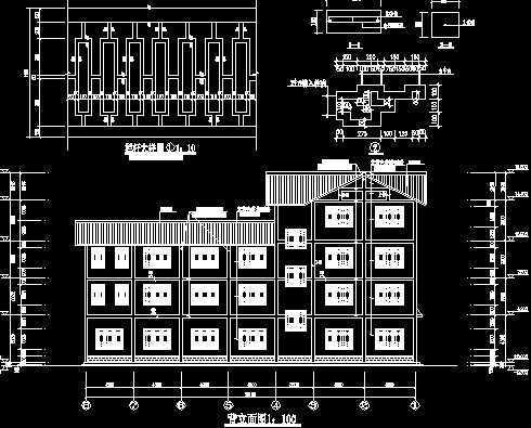 汽车站工程施工图免费下载