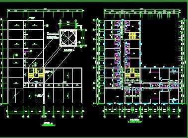 l型宿舍楼设计施工图免费下载 - 建筑户型平面图