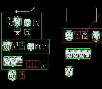 一梯四户住宅楼户型平面图