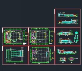 门面图纸布置设计图免费下载带一间食堂的房屋v门面平面图片