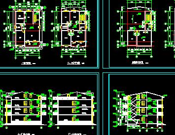 新农村住宅设计图免费下载 建筑户型平面图