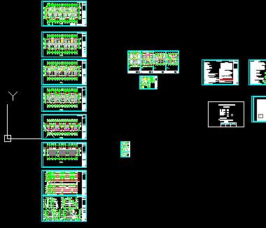 某住宅楼施工图纸(建筑结构水电暖)