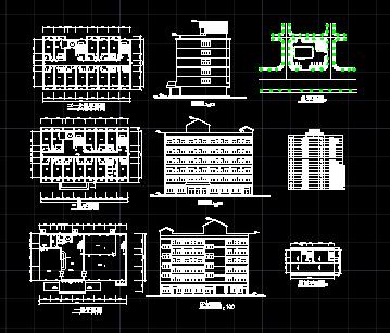 某宾馆建筑设计图免费下载v宾馆广告条幅图片