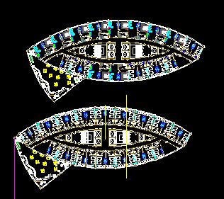 椭圆形酒店平面图