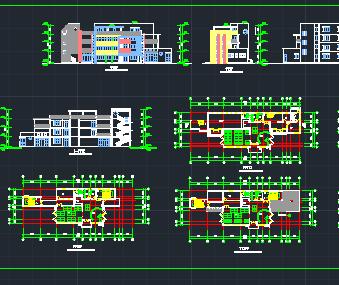 某幼儿园建筑设计图纸免费下载