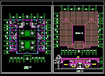 某四合院建筑施工图免费下载