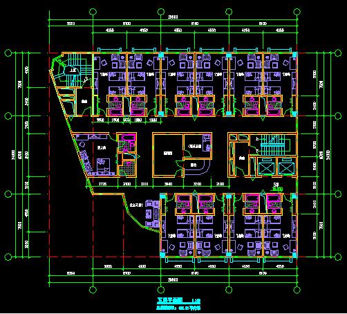 某八层宾馆平面设计图