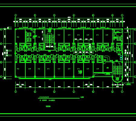 某4层宾馆平面设计图