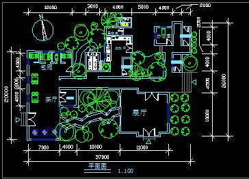 茶室平面图免费下载 建筑户型平面图