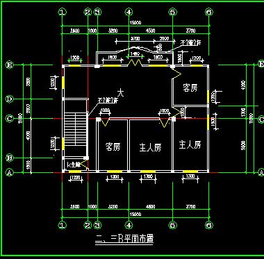 三层欧式小洋房全套建筑施工图纸