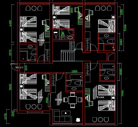 標準住宅套房平面戶型設計圖