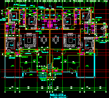 五層單體洋房戶型平面設計圖紙