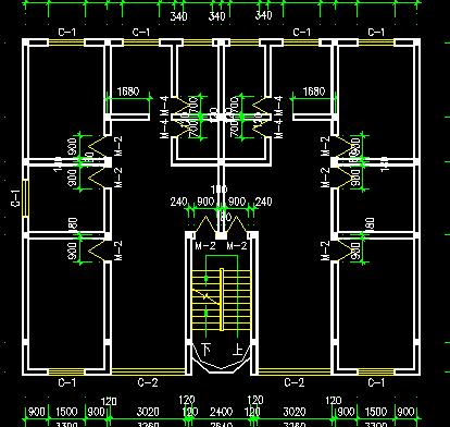 某六层一梯两户住宅楼建筑设计图纸