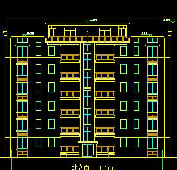 某六层一梯两户住宅楼建筑施工图纸