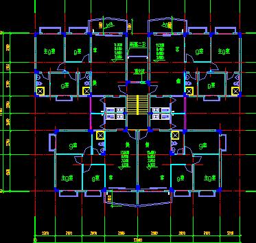七层塔式住宅楼建筑设计图纸