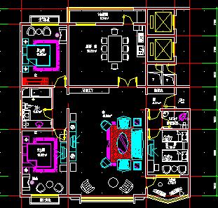 多套单元式住宅户型平面图