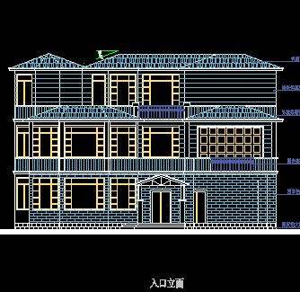 11套三層經典混磚結構別墅戶型平面圖