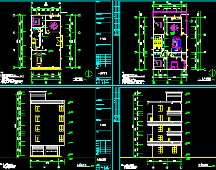 某六层住宅楼建筑设计图纸