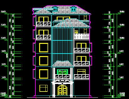 五层别墅施工图纸