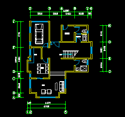 别墅建筑户型平面图