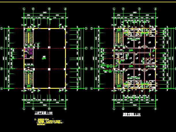 四层乡村住宅建筑平面图纸
